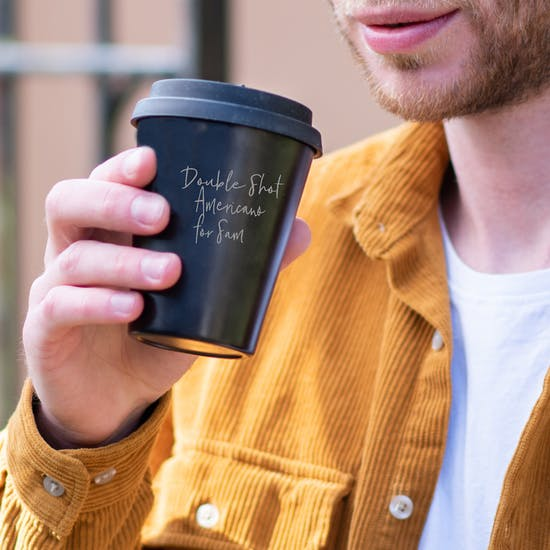 Personalised Bamboo Coffee Cup