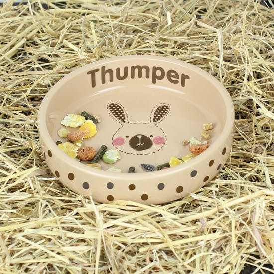 Personalised Bunny Food Bowl