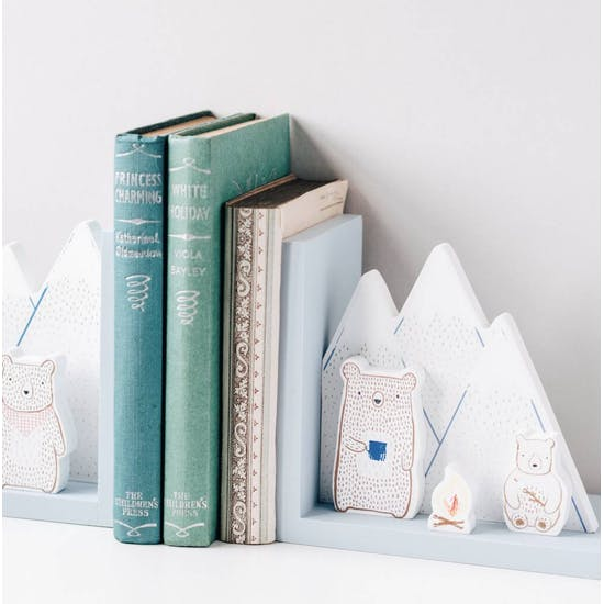 Personalised Bear Camp Bookends
