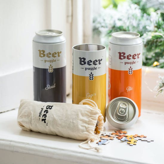 Personalised Beer Puzzle In A Can