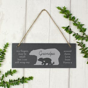 Personalised Bear Slate Sign