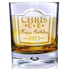 Personalised Brandy Design Glass