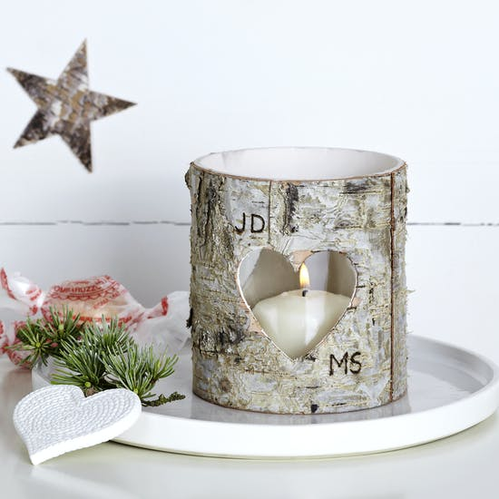 Personalised Birch Bark Vase / Candle Holder