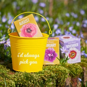 Personalised Birth Flower Bucket