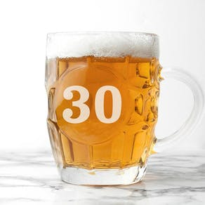 Personalised Birthday Dimpled Beer Glass