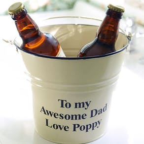 Personalised Metal Bucket