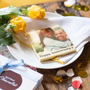 Anniversary Edible Printed Chocolate Photo