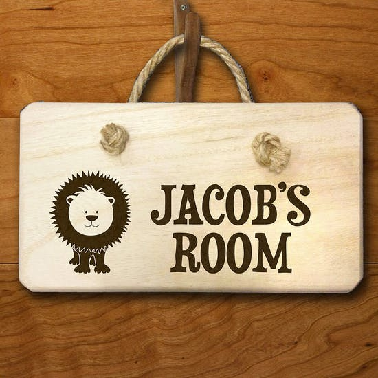 Personalised Child's Wooden Door Hanger