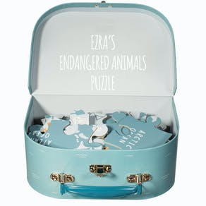 Personailsed Childs Endangered Animal Puzzle Suitcase