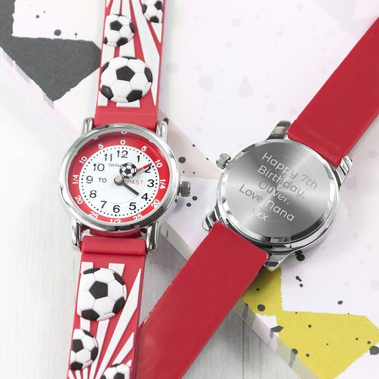 Personalised Childs Football Watch