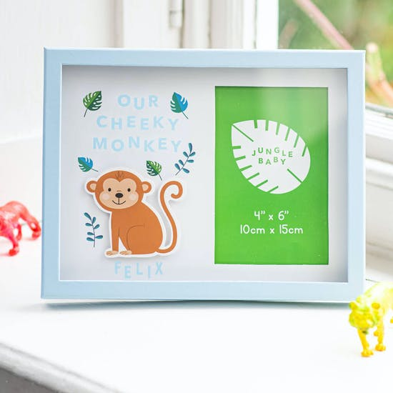 Personalised Childs Monkey Design Frame
