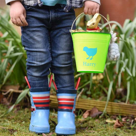 Personalised Childs Metal Buckets