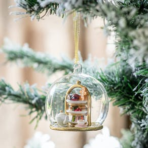 Personalised Christmas Tea Dome Bauble