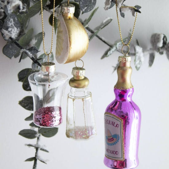 Personalised Christmas Tequila Bauble Set