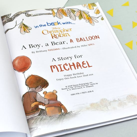 Personalised Christopher Robin Giftboxed Book