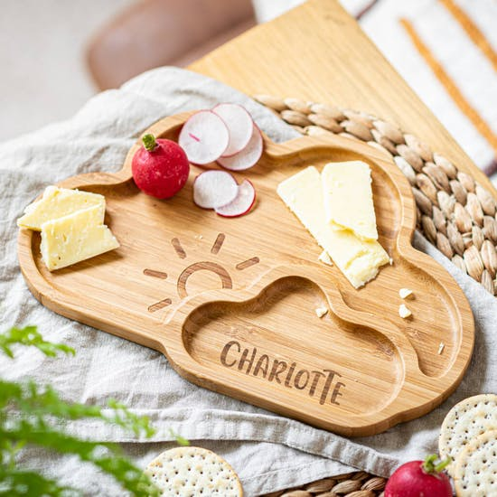 Personalised Cloud Bamboo Plate