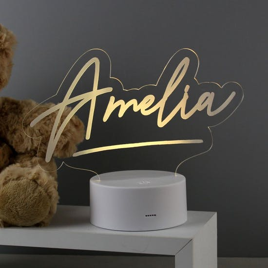 Personalised Colour Changing Night Light