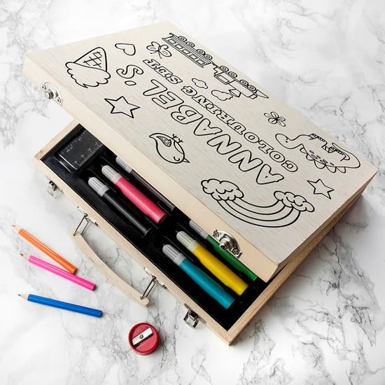 Personalised colour your own colouring set