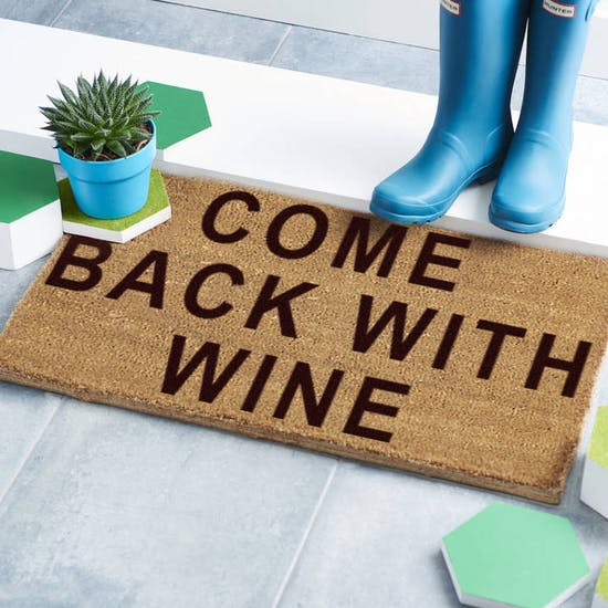 Personalised 'Come Back With' Doormat