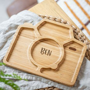 Personalised Camera Bamboo Plate