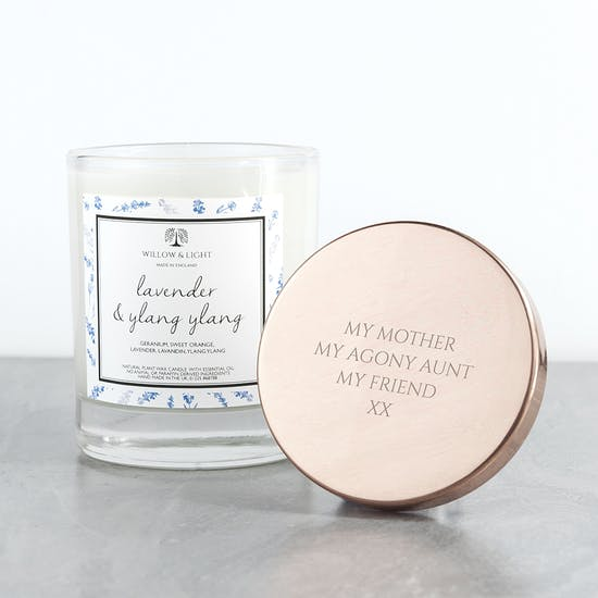 Personalised Candle With Copper Lid