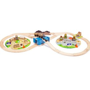 Personalised Construction Train Gift Set