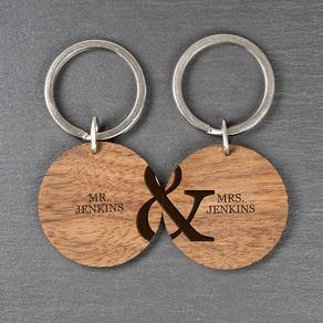 Personalised Definition Wooden Keyring