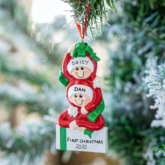Personalised Gift Couple Christmas Decoration