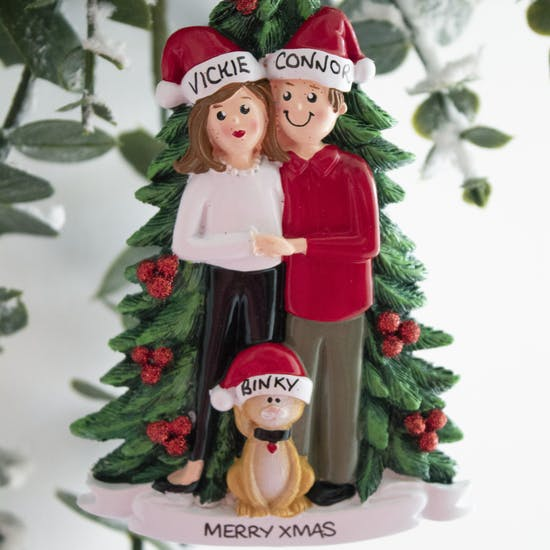 Personalised Couples with Cat Decoration