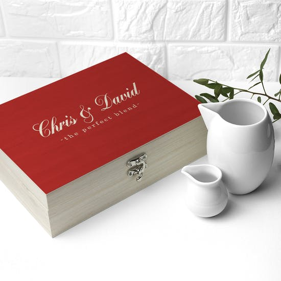 Personalised Couples Tea Box With Tea