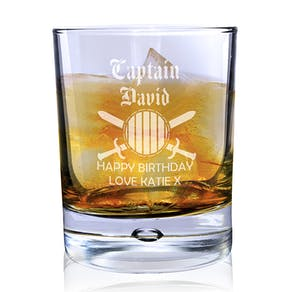 Personalised Captain Glass