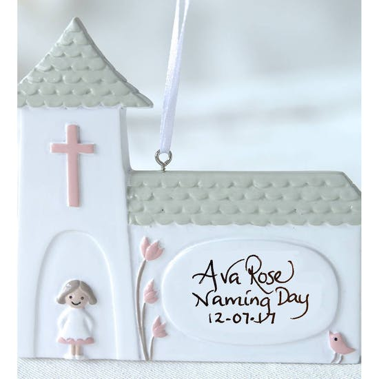 Personalised Ceramic Church Decoration