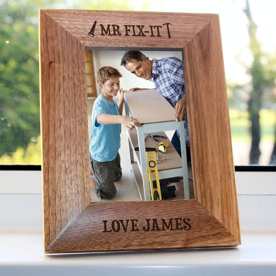 Personalised Dad Oak Photo Frames
