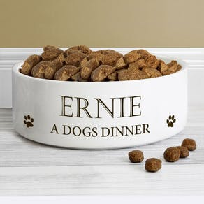 Personalised Dogs Food Bowl