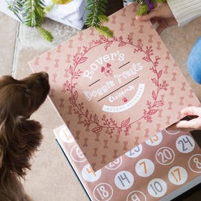 Personalised Dog Treats Advent Calendar Box