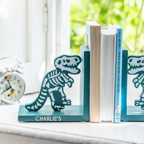 Personalised Dinosaur Bookends