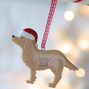 Personalised Dog Hanging Decoration