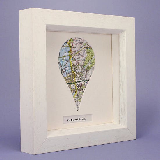 Personalised Drop Pin Map Artwork