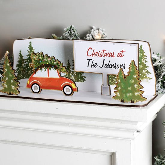 Personalised Driving Home For Christmas Kit