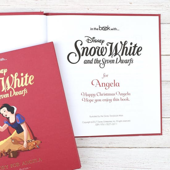 Personalised Disney Snow White Book
