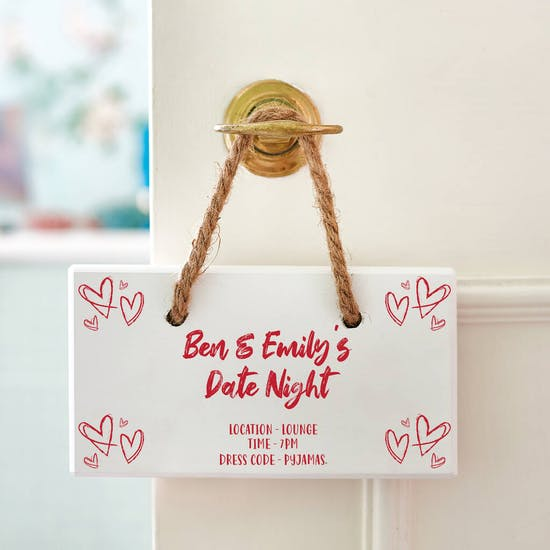 Personalised Date Night Wooden Sign
