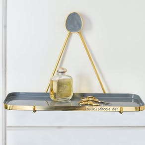 Personalised Enamel Hanging Shelf
