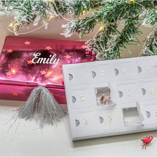 Personalised Enamel Pin Advent Calendar