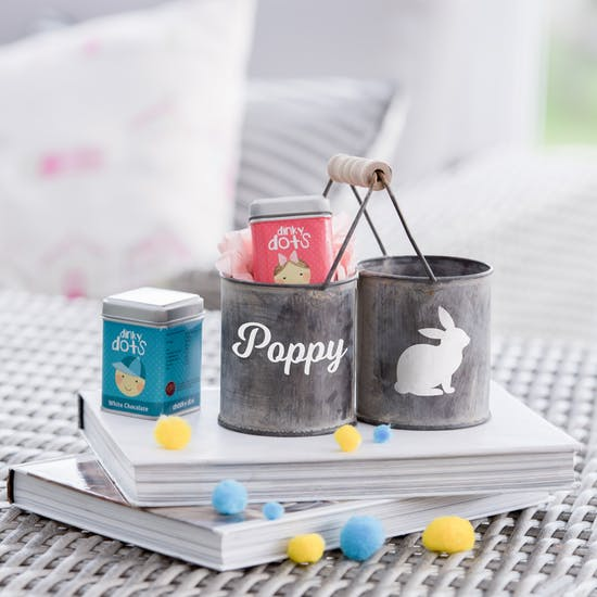 Personalised Easter Double Bucket