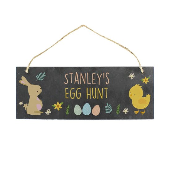 Personalised Easter Hunt Sign