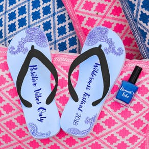 Personalised Flip Flops With Matching Nail Polish