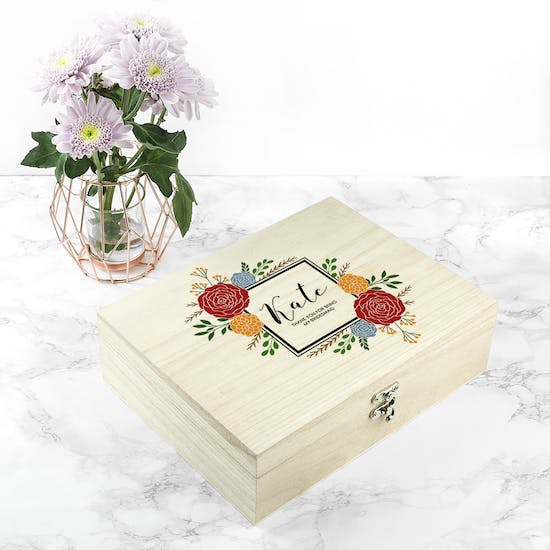 Personalised Flower Frame Bridesmaid Box