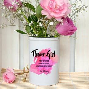 Personalised Flower Girl Vase