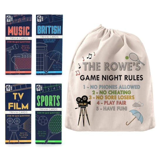Personalised Family Games Night Gift