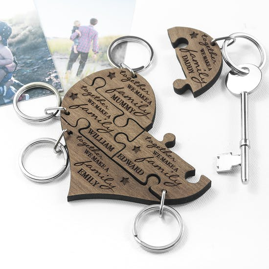 Personalised Family Keyring